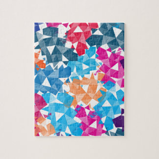Colorful 3D geometric Shapes Jigsaw Puzzle