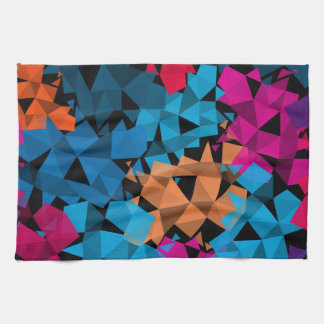 Colorful 3D geometric Shapes Kitchen Towel