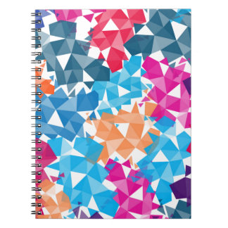 Colorful 3D geometric Shapes Spiral Notebook