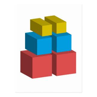 Colorful 3d object postcard