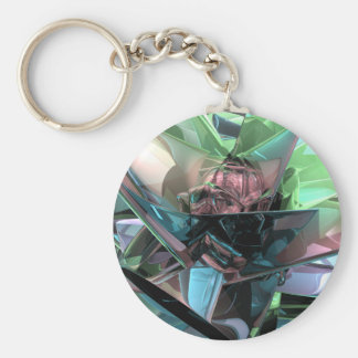 Colorful 3D Reflections Keychain