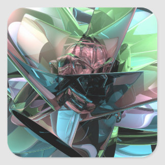 Colorful 3D Reflections Square Sticker