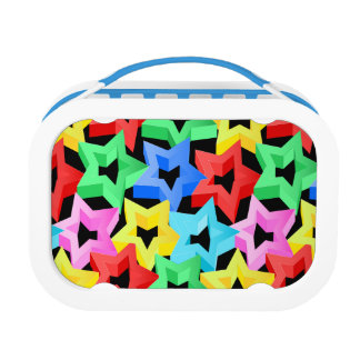 Colorful 3D stars Lunch Box