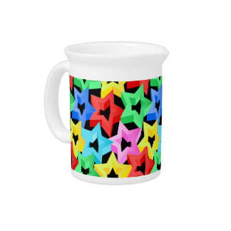 Colorful 3D stars Pitcher
