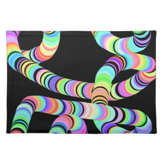 Colorful 3D Tube Place Mats