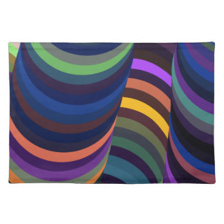 Colorful 3D Tunnel Place Mat