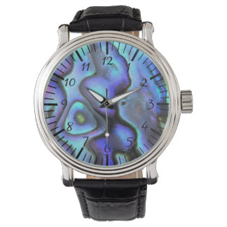 Colorful Abalone Seashell, Beautiful Nature Wristwatch