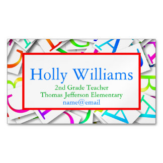 Colorful ABC Teacher Educator Business Card