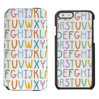 Colorful ABCs Incipio Watson™ iPhone 6 Wallet Case
