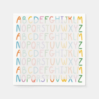Colorful ABCs Paper Napkins