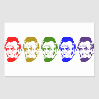 Colorful Abe Lincoln Abstract Art Sticker