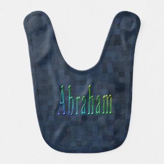 Colorful Abraham Boys Name Logo, Bib