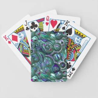 Colorful Abstract 3D Blur Bicycle Playing Cards
