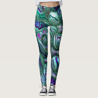 Colorful Abstract 3D Blur Leggings