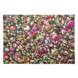 Colorful Abstract 3D Shapes Placemat