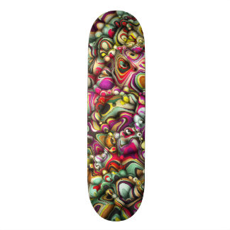 Colorful Abstract 3D Shapes Skate Decks