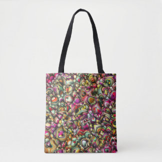 Colorful Abstract 3D Shapes Tote Bag