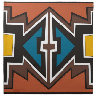 Colorful abstract African art Napkin