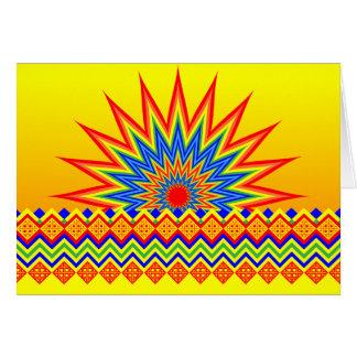 Colorful Abstract African Print Ankara Pattern Card