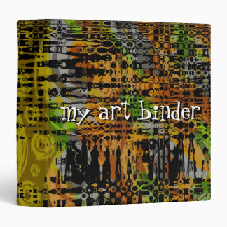 Colorful Abstract Art Binder
