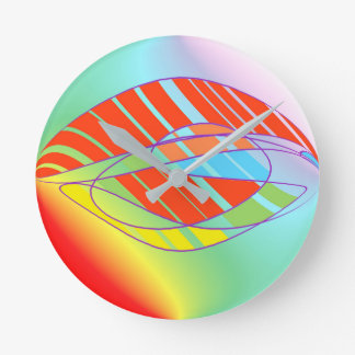 Colorful Abstract Art Clock