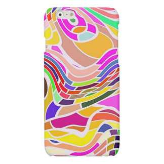 Colorful Abstract Art, Colorful Shapes White Lines