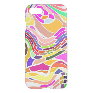 Colorful Abstract Art, Colorful Shapes White Lines iPhone 8/7 Case