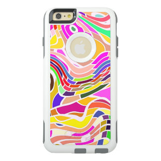 Colorful Abstract Art, Colorful Shapes White Lines OtterBox iPhone 6/6s Plus Case