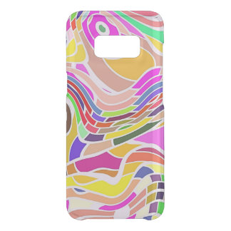 Colorful Abstract Art, Colorful Shapes White Lines Uncommon Samsung Galaxy S8 Case
