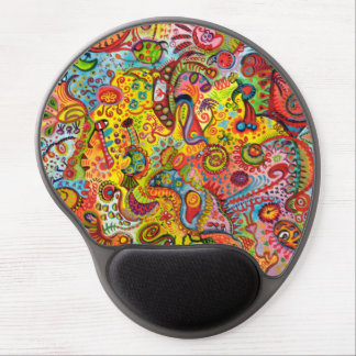 Colorful Abstract Art Gel Mousepad