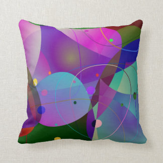 Colorful Abstract Art Geometric Shapes Throw Pillow