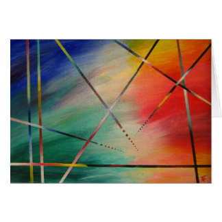 Colorful abstract art  Greeting Card
