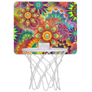 Colorful Abstract Art Mini Basket Ball Goal Mini Basketball Hoop