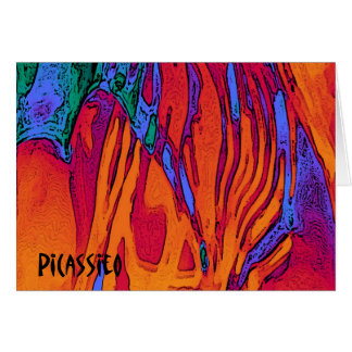 Colorful Abstract Art Note Card Fire and Water