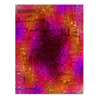 Colorful Abstract Art, Purple Orange Pink Postcard