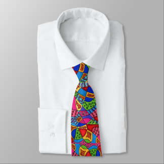 Colorful Abstract Artistic Boho Graffiti Tie