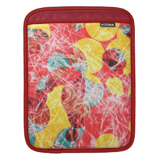 Colorful abstract artwork iPad sleeve