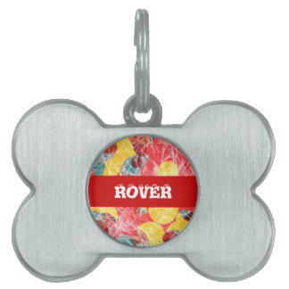Colorful abstract artwork pet ID tag
