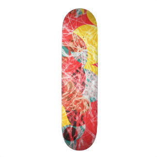 Colorful abstract artwork skate board deck
