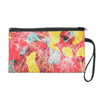 Colorful abstract artwork wristlet