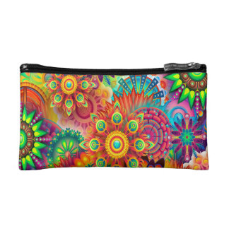 Colorful Abstract Background Cosmetic Bag