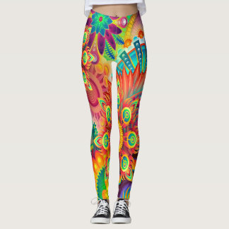 Colorful Abstract Background Leggings