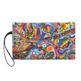 Colorful Abstract Bag - Clutch Cosmetic Accessory