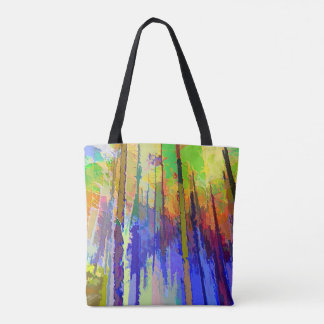 Colorful Abstract Bag with All Over Print