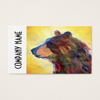 Colorful Abstract Bear Art Business Card