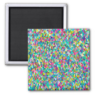 Colorful Abstract Blue And Purple Grid Magnet