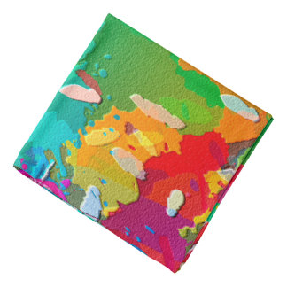 Colorful Abstract Bright Background Bandana