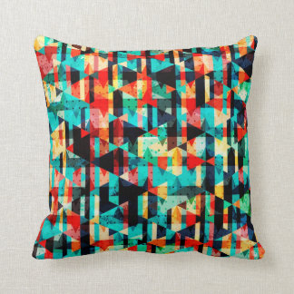 Colorful abstract bright element design throw pillow