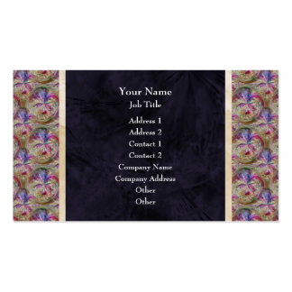 Colorful Abstract Bubble Pattern Border Pack Of Standard Business Cards