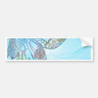 Colorful Abstract Butterfly Design Bumper Sticker